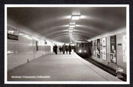 SN102) Stockholm - T-bonestation Fridhemsplan - Subway Station - RPPC - Sweden