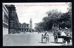 SR50) Ceylon - Colombo - Queen Street, Lighthouse, Entrance To Queen's House - Sri Lanka (Ceylon)