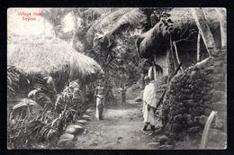 SR51) Ceylon - Village Huts - Posted From Colaba 1907 - Sri Lanka (Ceylon)