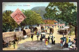 SR53) Ceylon - Colombo - Street Scene, Pettah - Posted 1910 - Sri Lanka (Ceylon)