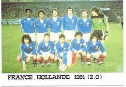FOOTBALL - France - Hollande 1981 (2-0) - Voetbal