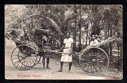 SR55) Ceylon - Rickshaws - Sri Lanka (Ceylon)