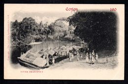 SR57) Ceylon - River Transport - 190_ - UDB - Sri Lanka (Ceylon)