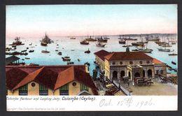 SR60) Ceylon - Colombo Harbour & Landing Jetty - 1906 - Sri Lanka (Ceylon)