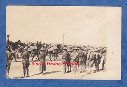 CPA Photo - USA / Etats Unis - Convoi D'armement Militaire Transporté Par Cheval - Soldat Uniforme Chapeau Campagn Hat - Guerre 1914-18