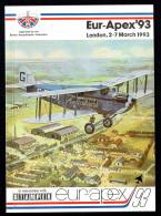 Eur-Apex'93  - British Aerophilatelic Federation - Air Mail And Aviation History