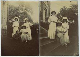 2 Photos. La Bazoche Gouet (Eure-et-Loir). Les Lumières. 1908. - Lieux