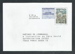 PAP PRET A POSTER REPONSE PRETRES DE L'EMMANUEL - Entiers Postaux