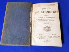Elements De Geometrie Comprenant Des Notions Sur Les Courbes Usuelles Vieux Livre Rare - Libros, Revistas, Cómics