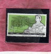 CHINA CINA 1964 Chemical Industry  Synthetic Fibers. 8f USATO USED OBLITERE' - 1949 - ... Repubblica Popolare
