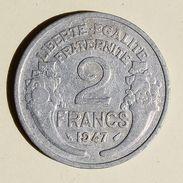Pièce De Monnaies France - 2 Franc Morlon Alu - 1947 - France