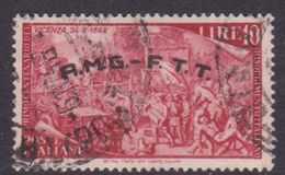 Trieste Allied Military Government S 23 1948 Revolution Centenary 10 L Red Used - 7. Trieste