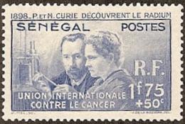 Sensgal,  Scott 2017 # B3,  Issued 1938,  Single,  MLH,  Cat $ 10.50,  Medical - Senegal (1960-...)