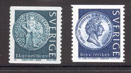 SWEDEN 1999 Swedish Coins, MNH Set, Scott #s 2319-2320 - Sweden