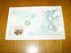 Chromo Format CPA Chocolat Aiguebelle, Drôme:St Pierre Et Miquelon, Les Colonies Françaises, Port De Miquelon - Aiguebelle