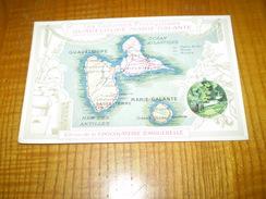 Chromo Format CPA Chocolat Aiguebelle, Drôme:Guadeloupe Marie Galante, Les Colonies Françaises,rivière Piton Moutte - Aiguebelle
