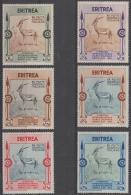 -  ERITREA - 1934 Arts Exhibition. Scott 175-180. Mint - Eritrea