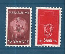 Colonie Francaise Timbres De Sarre De 1952  N°304/05  Neufs ** - 1947-56 Occupation Alliée