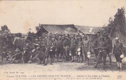 Les Américains En France - American Soldiers In France - Le Premier Déjeuner Sur La Terre Française - Circ Sans Date - Oorlog 1914-18