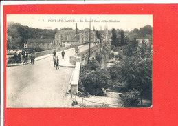 70 PORT Sur SAONE Cpa Animée Le Grand Pont Et Les Moulins         7 Edit Durget - Francia