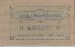 17 / 7 / 231    YPRES  -  AVANT  ET  APRÈS  LA  GUERRE  -  12  CARTES - 5 - 99 Postkaarten