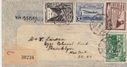 COVER. PERU. VIA AEREA. 21 3 1937. REGISTERED LIMA TO NEW YORK - Peru
