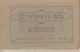 17 / 7 / 233  -    CARNET   12  CP  D' YPRES    EN  1919  - - Ansichtskarten