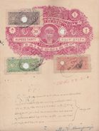 COCHIN State 2A CF T 25 -2R T 22- 6 Rs CF T 24 CF  On 30 Rs Stamp Paper Type 32  # 96823  Inde Indien India Fiscaux - Cochin