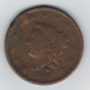 USA , 1 Cent 1834, Used, See Scans. - Bondsuitgaven