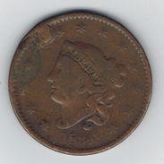 USA , 1 Cent 1834, Used, See Scans. - EDICIONES FEDERALES