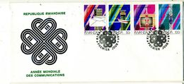 Rwanda COB 1198/1201 Communications Série Incomplète - Rwanda