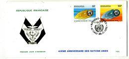 Rwanda COB 1243/44 Nations-Unies - Rwanda