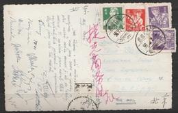 "Tibet - CP (paysage Himalaya) Affr. 12f Càd ""LHASSA/1956.10.2"" Pour PEKING - Covers & Documents"