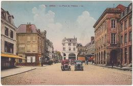 Arras: 2 VOITURES ANCIENNES 1920's - La Place Du Théatre - ( 51 -- LL.) - Passenger Cars