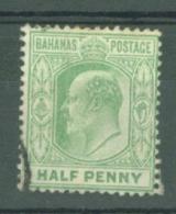 Bahamas: 1906/11   Edward    SG71    ½d     Used - Bahamas (...-1973)