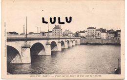 DEPT 42 : édi. Prieur A Roanne : Pont Sur La Loire Et Vue Sur Le Coteau ( Censure Roanne Octobre 1939 ) écrit A Gauche - Roanne