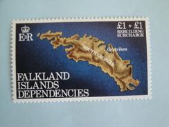 1982  Falkland Géorgie Du Sud Yvert 115 ** Carte  Map  Scott 1 LB 1  Michel 116  SG 112 Reconstruction - Géorgie Du Sud