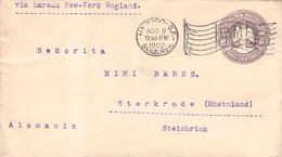 MEXICO - ENVELOPE 10 CENTAVOS 1902 MEXICO -> STERKRADE/GERMANY - Mexique