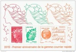 FRANCE 2012 1ER ANNIVERSAIRE DE LA GAMME COURRIER RAPIDE NEUF** LUXE F4687 - F 4687 -                     TDA151 - Mint/Hinged