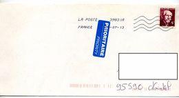 Lettre Flamme Chiffree Sur Langevin Curiosité - Marcophilie (Lettres)
