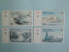 1989  Falkland Géorgie Du Sud Yvert 192/5 ** Glaciers  Scott 135/8 Michel 176/9  SG 187/90  Gletsjer Formations - Géorgie Du Sud