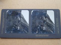 Massif Du MONT-BLANC Grands Charmoz : Sur L'arête. ( Nr. 9 - STEGLITZ - BERLIN ) Stereo Photo ! - Photos Stéréoscopiques