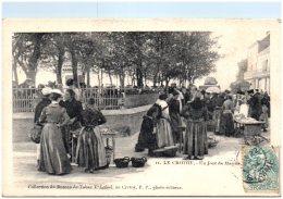 80 LE CROTOY - Un  Jour De Marché   (Recto/Verso) - Le Crotoy