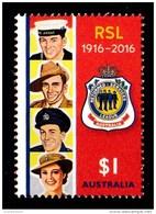 Australia 2016 RSL Centenary $1 MNH - Mint Stamps