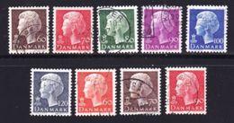 DENMARK, 1974, Used Stamp(s), Definitives Margretha II, MI 557-562, #10115 9 Values - Denmark
