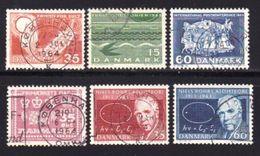 DENMARK, 1963, Used Stamp(s), Various Stamps, MI 409=424 , #10082, 6 Values - Denmark