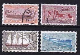 DENMARK, 1970, Used Stamp(s), Ships, MI 501-504, #10102 , Complete - Denmark