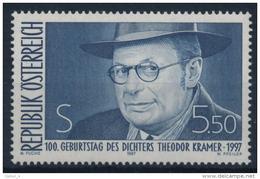 **Österreich Austria 1997 ANK 2239 Mi 2209 (1) Poet Writer Theodor Kramer MNH - 1945-.... 2a Repubblica