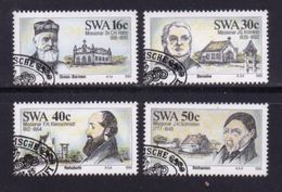SWA 1989 CTO Stamp(s) Missionares 633-636 #3263 - Namibië (1990- ...)