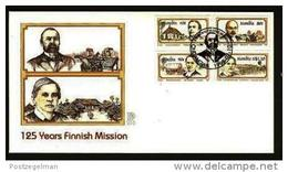 NAMIBIA, 1995, Mint FDC 2.10, Finnish Mission, Stampnrs. MI 794-797 - Namibië (1990- ...)